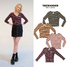 [THE WANDER] STRIPE CARDIGAN 19 4COLOR