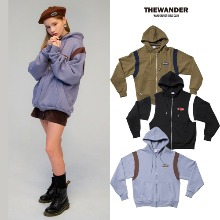 [THE WANDER] 90S RETRO HOOD ZIP-UP 3COLOR