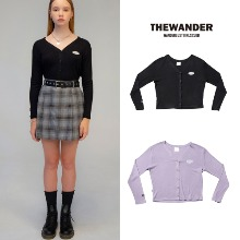 [THE WANDER] CLASSIC CROP CARDIGAN 2COLOR