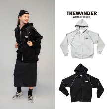 [THE WANDER] OVAL LOGO HOOD ZIP-UP 2COLOR