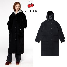 [KIRSH] WOOL HOOD COAT IA BLACK