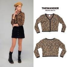 [THE WANDER] LEOPARD CROP CARDIGAN