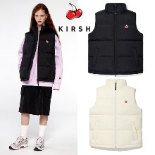 [KIRSH] SMALL CHERRY BALL PADDING VEST IA 2COLOR
