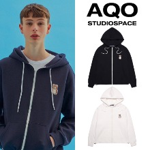 [AQOSTUDIO] AQO ERIC BEAR HOODIE ZIP-UP 2COLOR