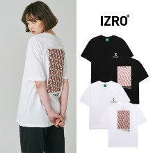 [IZRO] BRICK-RED MONOGRAM T SHIRT 2COLOR